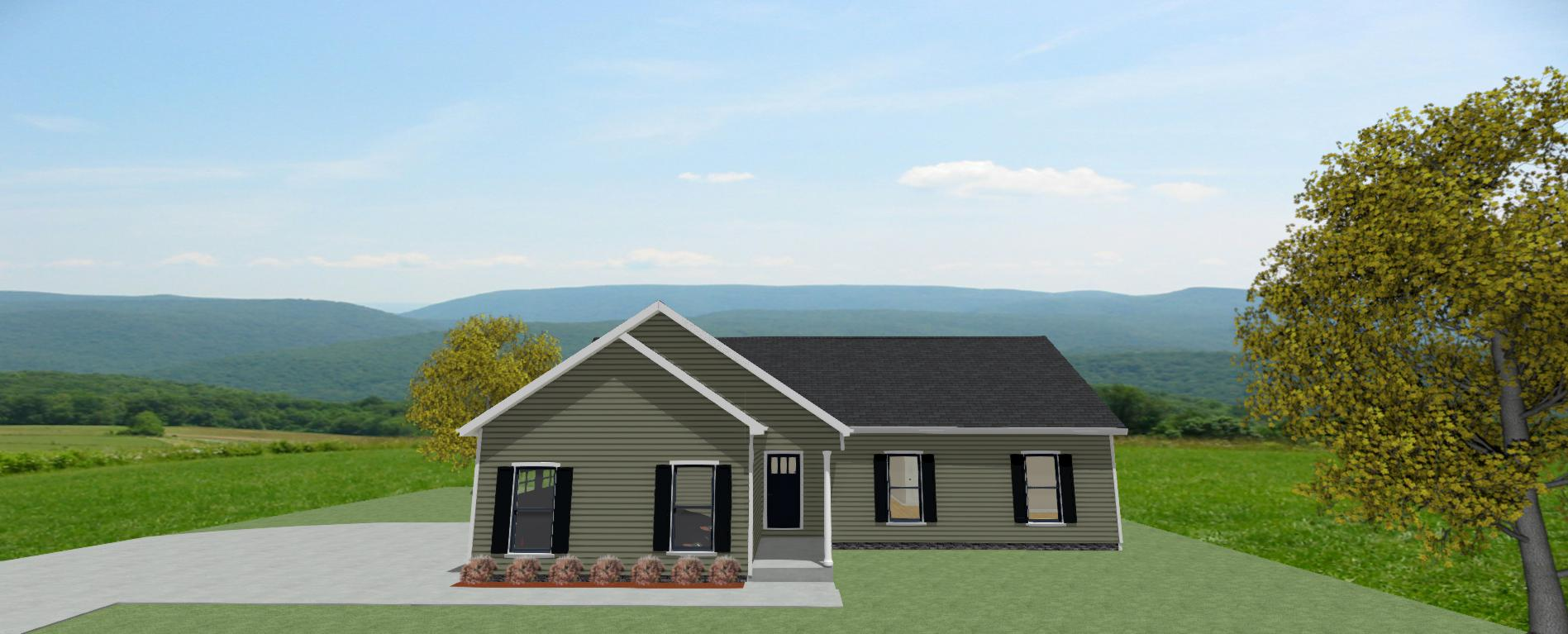 The Oak Front View 1400sf