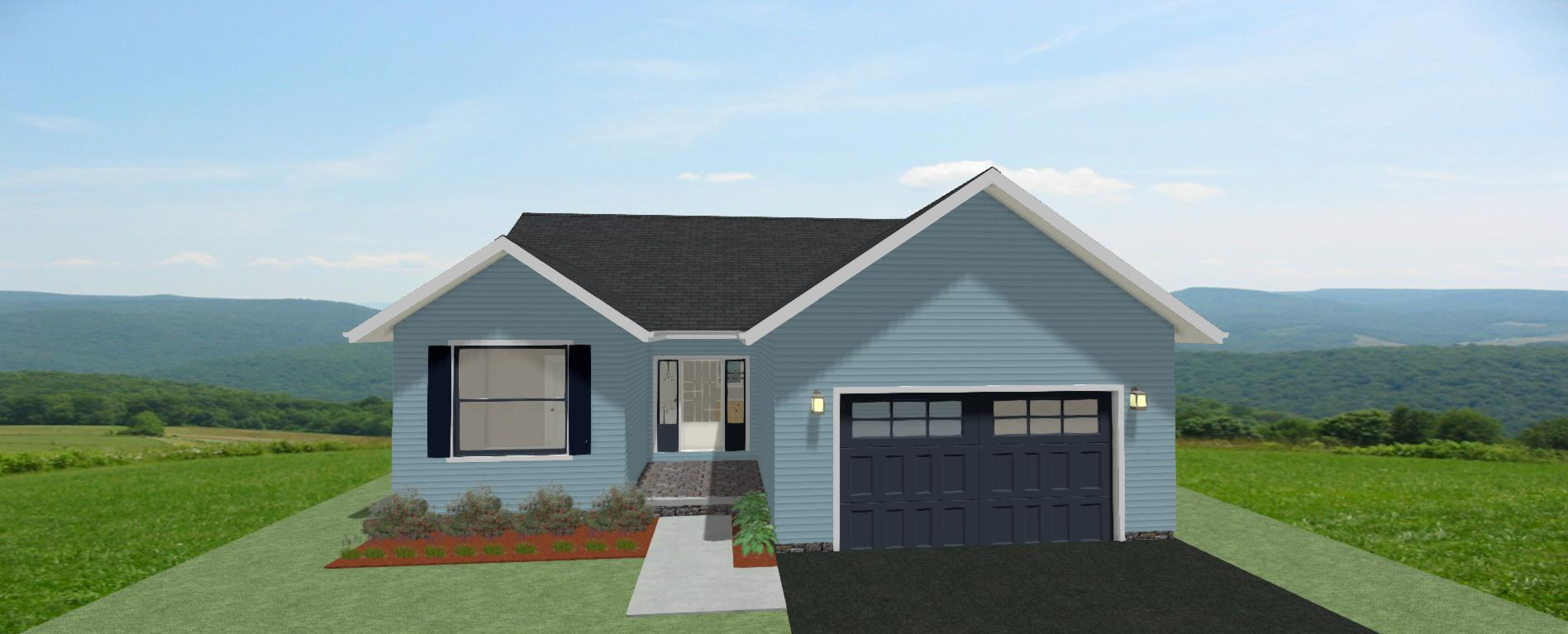 The Poplar Front View 1240sf